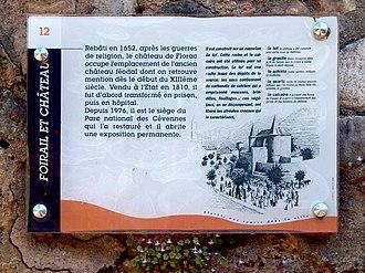 Château de Florac - Image: Florac château infos