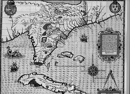 Detail of 1591 map of Florida and Cuba Florida Moyne 1591.jpeg