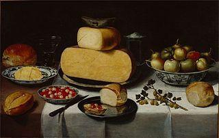 Breakfast Still Life with Cheese