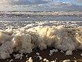 Foamy Noordzee at Noordwijk beach (Netherlands 2013) (8337505552).jpg