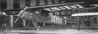 Fokker F.II Commercial aircraft from the Fokker Aircraft Company, flying in 1919