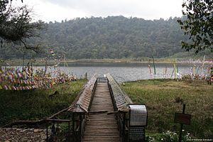 Khecheopalri Lake - Foot bridge approach to the Khecheolpalri Lake