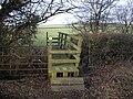 Footbridge across the Nant Brynhill, looking north - geograph.org.uk - 2242287.jpg