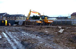 The Alexandra, New Barnet - Working on the site where The Alexandra once stood, December 2015.
