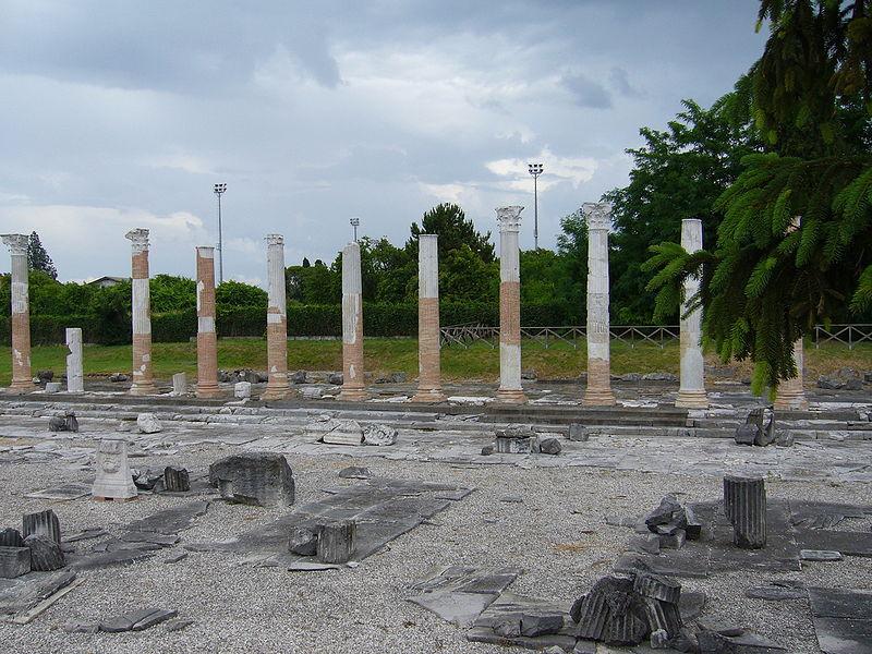 в период экономического упадка на месте Аквилеи