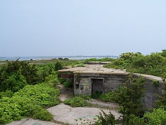 Watch Hill, Rhode Island - The remains of Fort Mansfield on Napatree Point