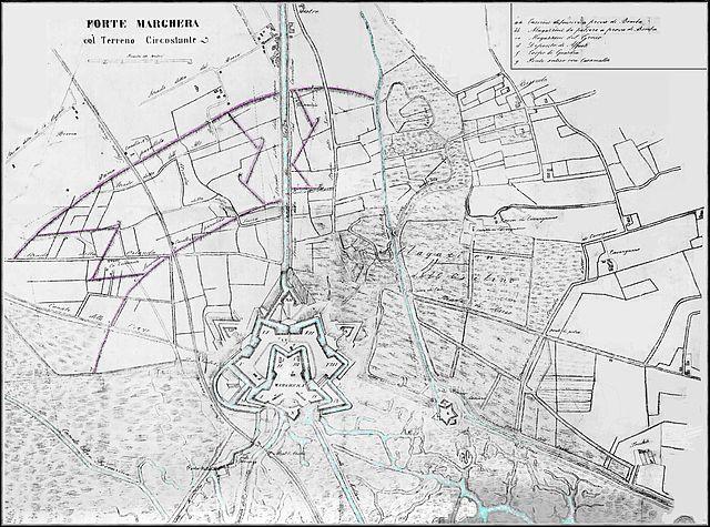Il forte austriaco di Marghera (Venezia) al tempo della Prima guerra d'indipendenza (1848)