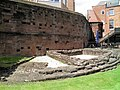 Foundation of the south-east angle of the Roman Fortress wall and internal tower, built between 74 and 96 AD, Deva Victrix (Chester, UK) (8392245972).jpg