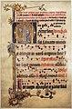 Frammento di libro liturgico domenicano con lettera O e annunciazione, colonia 1300-10 ca.jpg