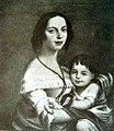 Franciszka z Kamieńskich Pawłowska z córką Elizą.jpg