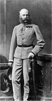 Franz Josef I in Kaiserjägeruniform
