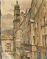 Franz Poledne Das Goldene Dachl in Innsbruck.jpg