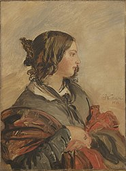 Portrait of the Young Queen Victoria