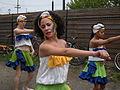 Fremont Solstice Parade 2008 - dancers rehearsing 02.jpg