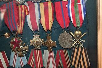 Ahmadiyya Jabrayilov - Awards of Jabrayilov in his house-museum in Shaki
