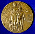 Friedrich Schiller, German Poet and Surgeon 100th Death Anniversary, Art Nouveau Medal 1905 by A.M. Wolff, obverse.jpg