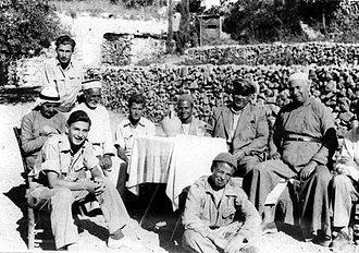 "Abu Ghosh - Photograph from Palmach Archive. Caption: ""Abu Ghosh - a Jewish-Arab friendship"" 1948"