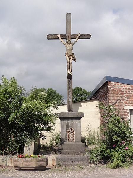 Froidestrées (Aisne) croix de chemin B