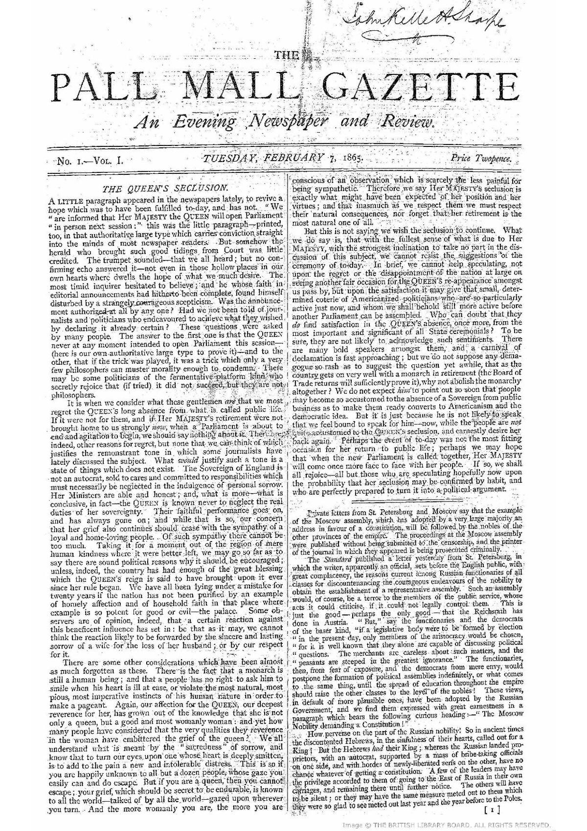 The London Gazette - Wikipedia |The Gazette Newspaper