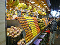 Fruit stall at Barcelona market (2925474480).jpg