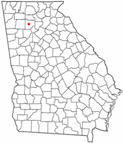 Location in Cherokee County in the state of جورجیا