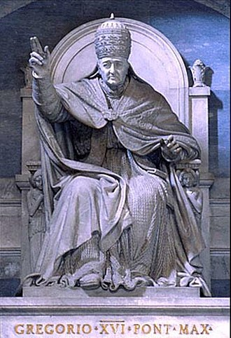 Pope Gregory XVI - Monument to Gregory XVI in Saint Peter's Basilica