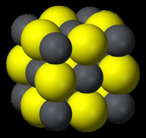 Lead(II) sulfide - Image: Galena unit cell 3D ionic