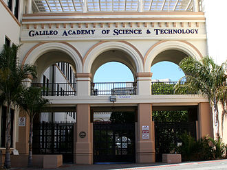Galileo Academy of Science and Technology - Image: Galileo Academy of Science and Technology entrance