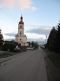 Gamów Village in Silesian Voivodeship, Poland