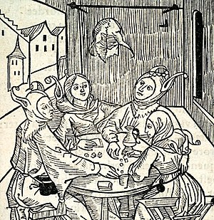 Gambling - Gamblers in the Ship of Fools, 1494