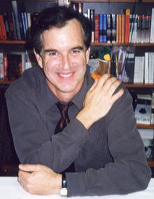 I took this photo on November 9, 1999 at Tufts University during a dual signing session for Scotty McLennan's book Finding Your Religion
