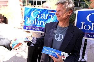 Gary Johnson - Johnson after a campaign rally in a photo shoot for Reason Magazine
