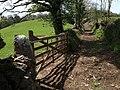 Gate on Moretonhampstead Bridleway 18 - geograph.org.uk - 1292394.jpg