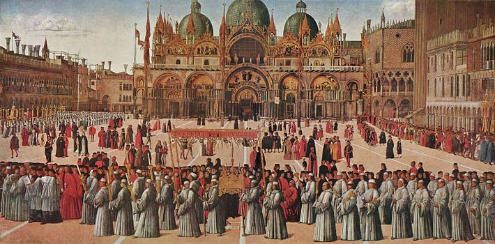 Gentile Bellini - Procession in St. Mark's Square (Galleria dell'Accademia, Venice).jpg