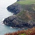 Geology lesson in coastline scenery - geograph.org.uk - 581236.jpg
