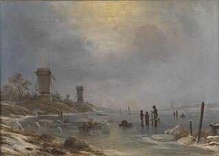 En vinterdag ved Elben