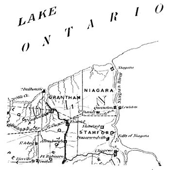 George Bryce - Laura Secord A Study in Canadian Patriotism page 9 - Map of Niagara District.jpg