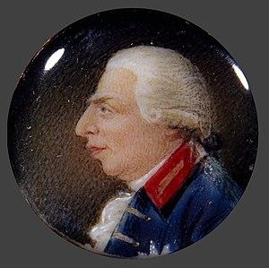 Richard Collins (artist) - Miniature portrait of George III, ca. 1790, in a gold brooch, 1.9 cm diameter. Now in the Denver Art Museum.