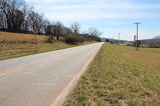 Georgia State Route 193 - State Route 193 near Pigeon Mountain