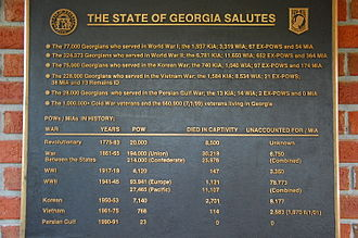 "Names of the American Civil War - Georgia plaque using ""War Between the States"""