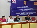 Ghulam Nabi Azad presiding over the 21st meeting of the Central Supervisory Board (CSB), in New Delhi. The Secretary, Ministry of Health & Family Welfare, Shri Keshav Desiraju and other dignitaries are also seen.jpg