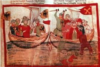 Battle of Giglio (1241) - A depiction from the 14th century Nuova Cronica