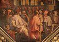 Giorgio vasari e aiuti, antonio giacomini nel salone dei dugento incita la guerra contro pisa, 1563-65, 03.jpg
