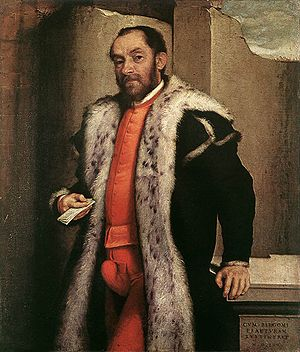 Codpiece - Portrait of Antonio Navagero (1565), oil on canvas, Pinacoteca di Brera, Milan, by Giovanni Battista Moroni