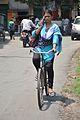 Girl Talking On Phone While Cycling - Chinsurah - Hooghly 2017-05-14 8569.JPG