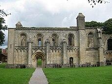 Glastonbury Abbey Lady Chapel south side.jpg