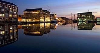 Gloucester - Gloucester Docks at night