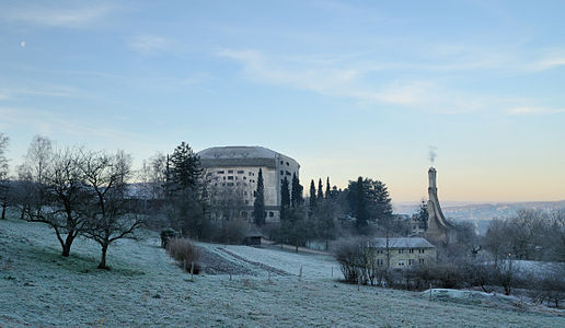 Goetheanum from east with surrounding area