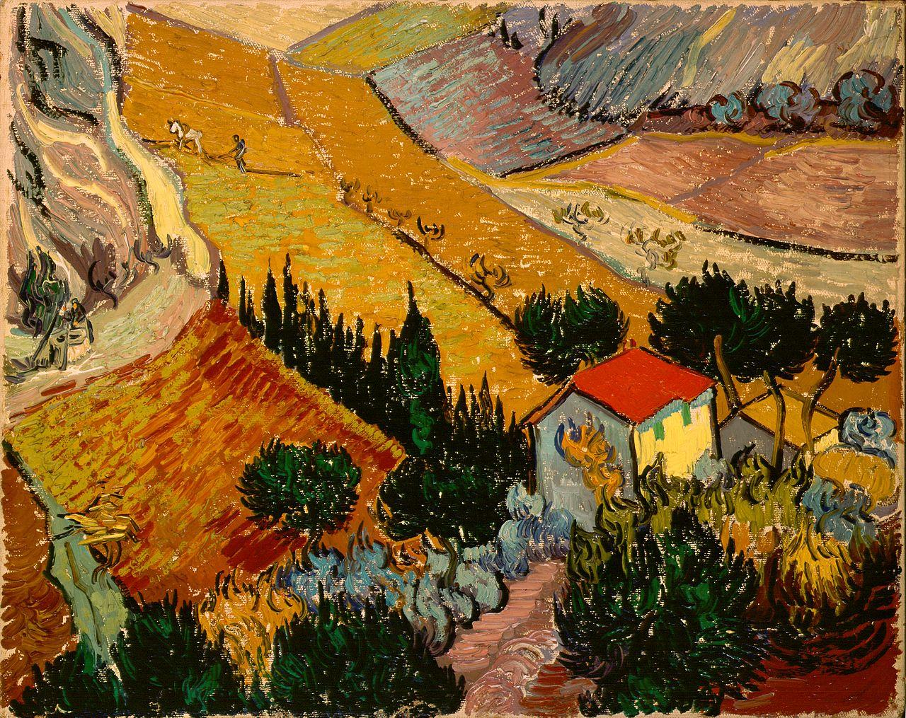 File:Gogh, Vincent van - Landscape with House and Ploughman.jpg ...