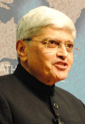 2017 Indian vice-presidential election - Image: Gopalkrishna Gandhi Chatham House 2010 (cropped)